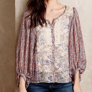 Anthropologie Tops - ANTHRO HD in Paris Chinoiserie Peasant Blouse